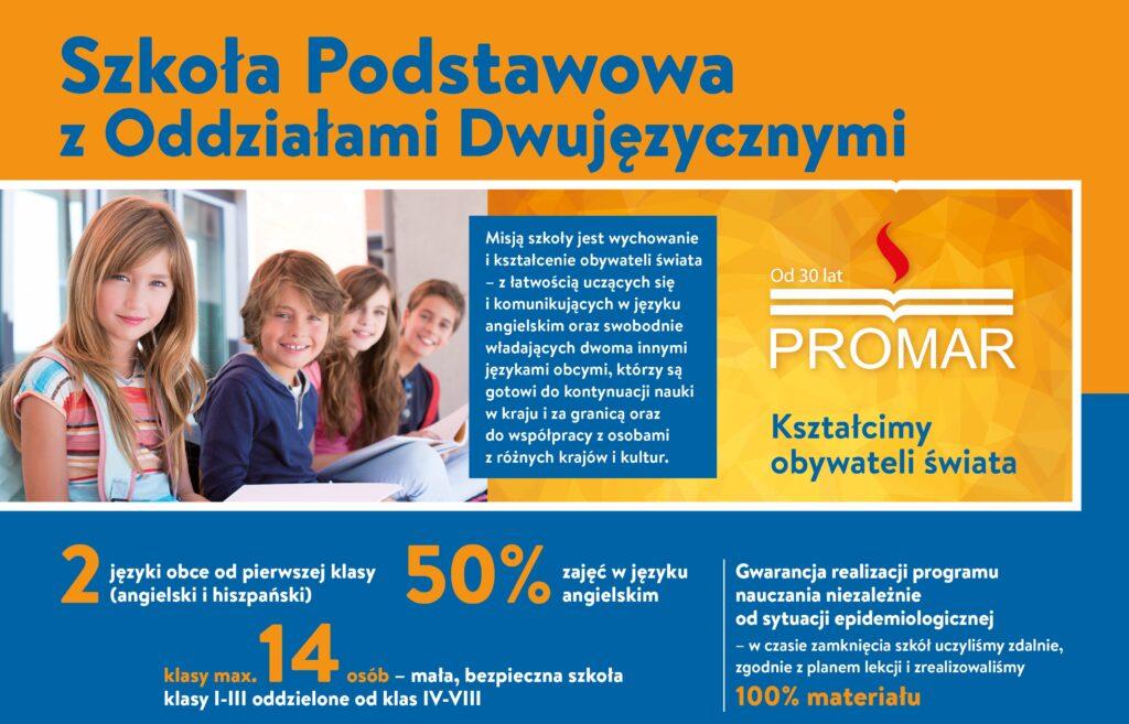 Zapisy do Szkoły Podstawowej z Oddziałami Dwujęzycznymi PROMAR